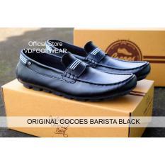 Cocoes Barista Sepatu Slop Pria Slip On Loafers Formal Moccasin Cowok Laki Ori