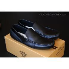 Cocoes Capitano - Sepatu Casual Pria Slip On Pria Kulit Asli - Free Kaos Kaki