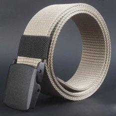 Jual Coconie Wild Men Canvas Belt Hypoallergenic Metal Free Plastik Otomatis Buckle Khaki Murah Di Tiongkok
