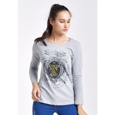 Jual Coconut Island Ladies Loose Custom Grey Coconut Island Branded