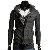 Kualitas Cocotina Pria Lengan Panjang Kasual Sweatshirt Hoodie Hooded Mantel Zipper Jaket Mantel Dark Grey Cocotina
