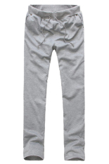 Cocotina Warna Solid Pria Pakaian Kasual Olahraga Keringat Celana Kolor Baju Celana Panjang Abu Abu Murah