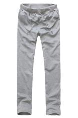 Harga Cocotina Warna Solid Pria Pakaian Kasual Olahraga Keringat Celana Kolor Baju Celana Panjang Abu Abu New
