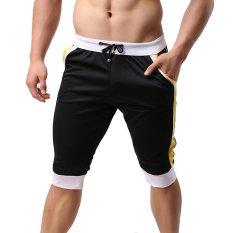 Ulasan Mengenai Cocotina Baju Olahraga Pria Pants Bang Pendek Pantai Gym Pelatihan Atletik Celana Kolor Celana Kasual Hitam International