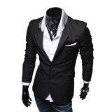 Jual Cocotina Pria Bergaya Kasual Jaket Mantel Tipis Pas Puncak Dua Kancing Jas Blazer Hitam Murah Di Hong Kong Sar Tiongkok