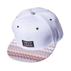 Laki-laki Unisex Bergaya Wanita Snapback Disesuaikan Bisbol Cap Hip Hop Topi - Putih Cocotina