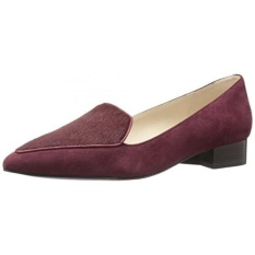 Cole Haan Womens Dellora Skimmer Slip-On Loafer, Tawny Port Suede/Hair Calf, 10 B US - intl