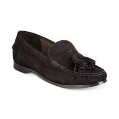 Cole Haan Womens Pinch Tassel Hitam Suede Loafer 10 B-Intl