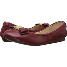 Cole Haan Womens Tali Bow Ballet Sun Dried Tomatoes Kulit Loafer-Intl