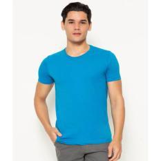 Cole Round Neck T-Shirt Undershirt Blue