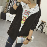 Harga College Style Spring New Style On Both Sides Wear Hooded Jacket Hitam Baju Wanita Jaket Wanita Di Tiongkok