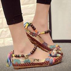 Harga Colorful Dangkal Flat Dipercaya Sepatu Tunggal Dengan Bordir Renda Untuk Wanita Kenyamanan Sandles Intl Yang Murah Dan Bagus