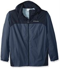 Columbia Laki-laki Besar dan Tall Glennaker Lake Packable Jaket Hujan, Gelap Gunung, Angkatan Laut Collegiate, 3X-Internasional