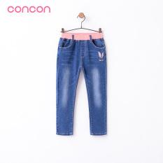 Concon Korea Modis Gaya Musim Semi atau Musim Gugur Baru Anak Perempuan Celana Cargo Gadis Jeans (Biru)