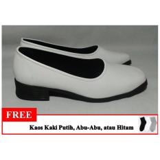 Review Confident Sepatu Pantofel Polos Wanita Sepatu Formal Wanita Warna Putih Confident Di Jawa Timur
