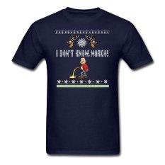 CONLEGO KAUS PASANGAN MATCHING I Tidak Tahu Margo Liburan Jelek Natal Hadiah Lucu DT Dewasa T-Shirt Navy Blue-Intl