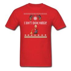 CONLEGO KAUS PASANGAN MATCHING I Tidak Tahu Margo Liburan Jelek Natal Hadiah Lucu DT Dewasa T-Shirt Merah-Intl