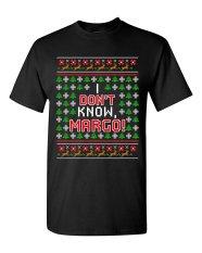 CONLEGO KAUS PASANGAN MATCHING I Tidak Tahu Margo Liburan Jelek Natal Hadiah Lucu DT Dewasa T-Shirt Tee Hitam-Intl