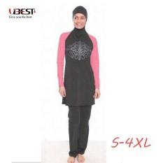 Konservatif Pakaian Renang Muslim Wanita Plus Ukuran Baju Renang Penuh Sarung Lengan Panjang Jilbab Sederhana Mandi Setelan-Internasional
