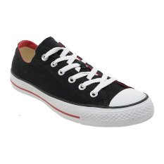 Converse Chuck Taylor Double Tongue Low Top Sepatu Sneakers Black Red Jawa Barat