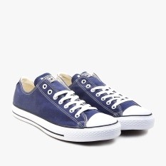 Converse Chuck Taylor All Star Canvas Low Cut Sneakers Unisex Chuck Size - Navy