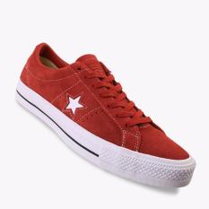Promo Converse One Star Pro Ox Men S Sneakers Shoes Merah