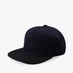 Ongkos Kirim Converse Seasonal Engineer Knit Fill Chevron Star Unisex Snapback Biru Tua Di Indonesia
