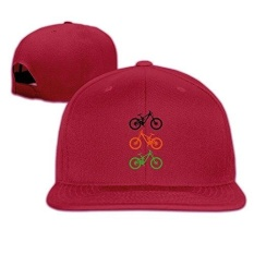 Cool Bike Bicycle Cycling Snapback Baseball Cap Hat Adjustable 100% Cotton For Male Female Ash - intl