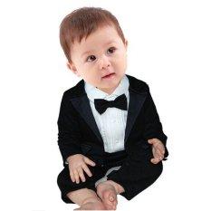 Tips Beli Cool Elves Baby Boys Tuxedo Romper Blazer Hitam
