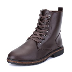 Tips Beli Cool Men Genuine Leather High Top Martin Boots Fashion Waterproof Ankle Boots Intl