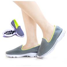 Spesifikasi Coolers Sepatu Wanita Pria Sneaker Sport Korean Style Gray Green Online