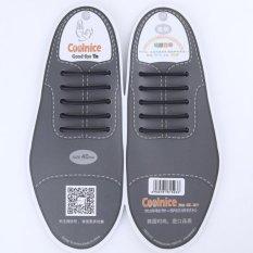 Coolnice Tanpa Ikat Tali Sepatu For Pria Sepatu Kulit Bisnis 10 Buah Lingkungan Aman Waterproof Silicone Warna Hitam 40Mm Promo Beli 1 Gratis 1