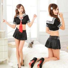Coseplay Sexy Siswa Guru Cap Uniform Club Wear Bar Work Wear-Intl