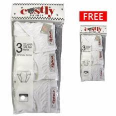 Harga Costly Buy 1 Get 1 Free Celana Dalam Putih Isi 3Pcs Gratis 3Pcs Dan Spesifikasinya