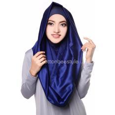 Premium Hijab Jilbab Instan Hoodie Deeja Cavali - Royal Blue