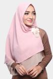 Diskon Kerudung Hijab Jilbab Khimar Hanna Two Tone Dua Layer Apple Jam