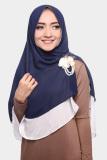 Review Kerudung Hijab Jilbab Khimar Hanna Two Tone Dua Layer Blueberry Soda Terbaru