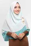 Spesifikasi Kerudung Hijab Jilbab Khimar Hanna Two Tone Dua Layer Bubble Milk Yang Bagus Dan Murah