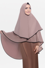 Diskon Kerudung Hijab Jilbab Syari Khimar Mecca Dua Umpak Milochoco Cotton Bee