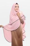 Review Tentang Kerudung Hijab Jilbab Syari Khimar Mecca Dua Umpak Dusty Pink