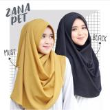 Harga Cotton Bee Zana Pet Hijab Instant Kerudung Insant Black New
