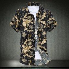 Kasual Katun Istana Musim Panas Ukuran Besar Pantai Fashion Kaos Pria Gemuk Berlengan Pendek SHIRT (