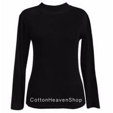 Cotton Heaven Manset Kaos Atasan Tangan Panjang Ada All Size & Big Size - Hitam