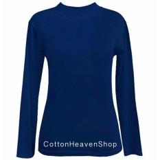 Beli Cotton Heaven Manset Kaos Atasan Tangan Panjang Ada All Size Big Size Navy Dongker Dengan Kartu Kredit
