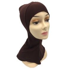 Kapas Jilbab Muslim Syal Islam Wanita Kerchief Yang Hui Kebangsaan Head Cover Kopi-Intl