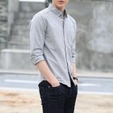 Harga Cotton Oxford T Shirt Lengan Panjang Light Lapel Bisnis Kemeja Yg Bagus