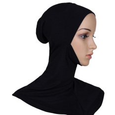 Kapas Di Bawah Syal Topi Topi Penutup Leher Tulang Kepala Memakai Jilbab Islam Muslim Hitam (International)-International