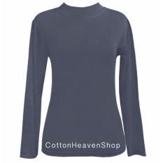Spesifikasi Cottonheaven Manset Kaos Atasan Tangan Panjang Ada Free Size Big Size Abu Tua Paling Bagus