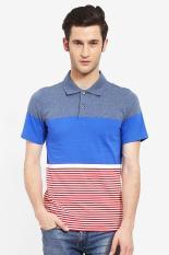 COUNTRY FIESTA MEN'S POLO  BLUE Diskon discount murah bazaar baju celana fashion brand branded