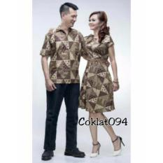 Couple Baju Batik Kebaya Berlian SH Modis #ukuran M, L, XL, XXL #Warna dan model 1 Pasang Wanita dan Pria